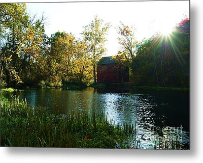 Metal Print featuring the photograph Autumn At Alley Spring And Mill by Julie Clements
