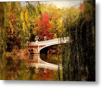 Autumn At Bow Bridge Metal Print by Jessica Jenney