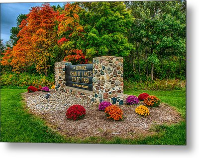 Autumn At Chain O'lakes State Park Metal Print by Gene Sherrill