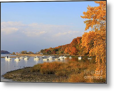 Autumn At Cold Spring Harbor Metal Print by Dora Sofia Caputo Photographic Art and Design