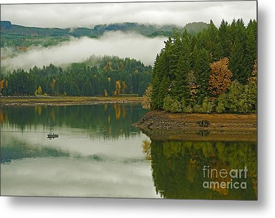 Metal Print featuring the photograph Autumn At Foster Lake by Nick  Boren