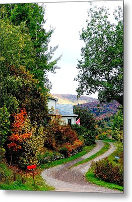 Autumn At French River Metal Print by Janet Ashworth