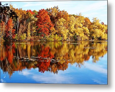 Autumn At Horn Pond Metal Print by Joe Faherty