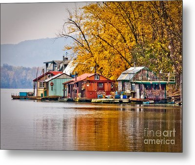 Metal Print featuring the photograph Autumn At Latsch Island by Kari Yearous