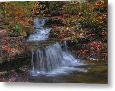 Autumn At Ricketts Glen Metal Print