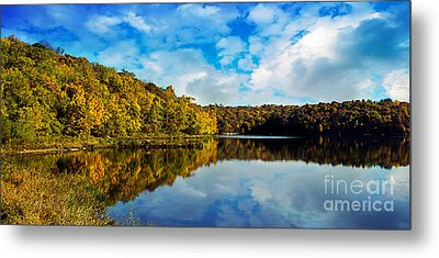 Autumn At Sailboat Cove Metal Print by Andee Design