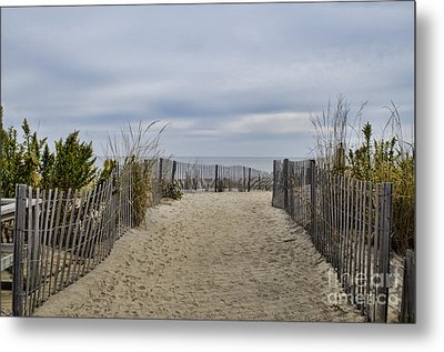 Autumn At The Beach Metal Print