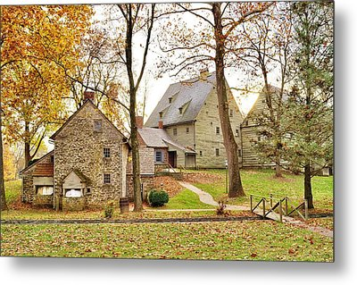Autumn At The Cloister Metal Print by Jean Goodwin Brooks