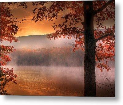 Autumn Atmosphere Metal Print by Lori Deiter