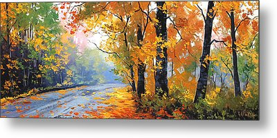 Autumn Backlight Metal Print by Graham Gercken