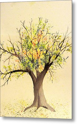 Autumn Backyard Tree Metal Print