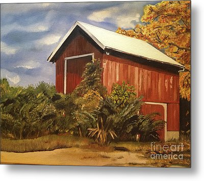 Autumn - Barn - Ohio Metal Print