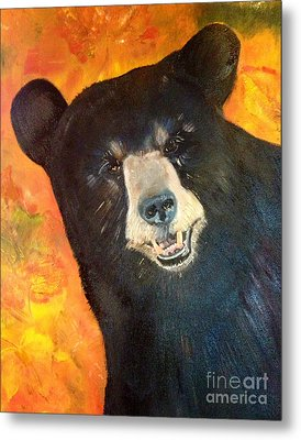 Autumn Bear Metal Print