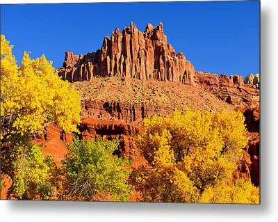 Metal Print featuring the photograph Autumn Beneath The Castle by Greg Norrell