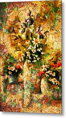 Autumn Bounty - Abstract Expressionism Metal Print