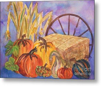 Autumn Bounty Metal Print by Ellen Levinson