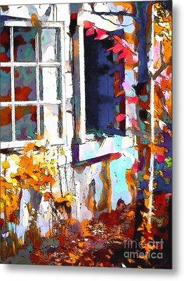 Autumn Breeze Through Open Windows    Windows Metal Print by Barbara D Richards