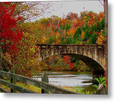 Autumn Bridge 1 Metal Print
