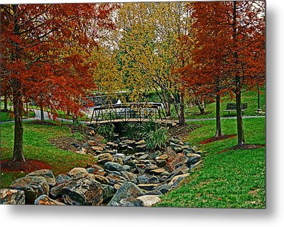 Metal Print featuring the photograph Autumn Bridge by Andy Lawless