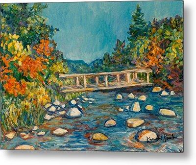 Autumn Bridge Metal Print by Kendall Kessler