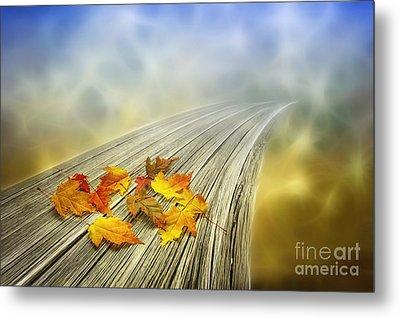 Autumn Bridge Metal Print by Veikko Suikkanen