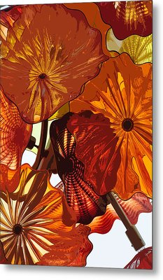 Metal Print featuring the digital art Autumn Burst by Kirt Tisdale