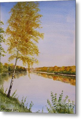 Autumn By The River Metal Print by Martin Howard