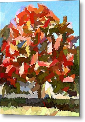 Autumn Color Riot Abstract Metal Print