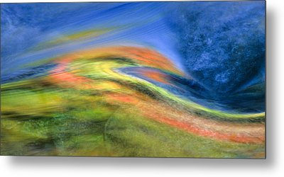 Autumn Color Swirl Metal Print by Michael Hubley