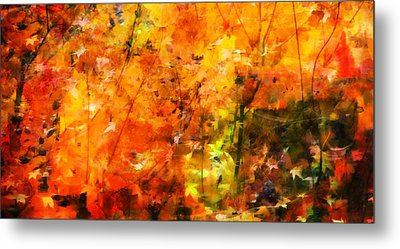 Metal Print featuring the digital art Autumn Colors by Aaron Berg