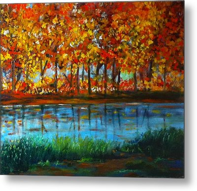Autumn Colors Metal Print by B Russo