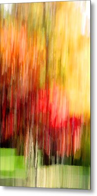Autumn Colors In Abstract Metal Print