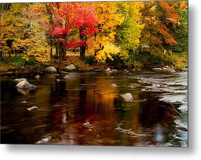 Autumn Colors Reflected Metal Print by Jeff Folger