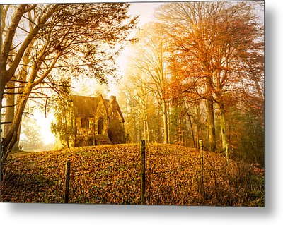 Autumn Cottage Metal Print