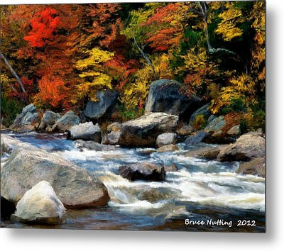 Metal Print featuring the painting Autumn Creek by Bruce Nutting