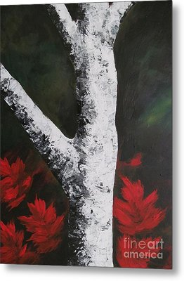 Autumn Dance Metal Print by Beverly Livingstone