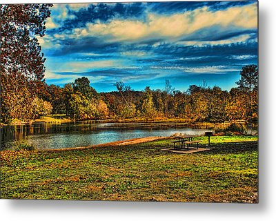 Autumn Day On The River Metal Print