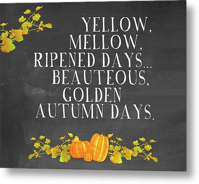 Autumn Days Metal Print by Amy Cummings
