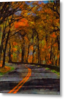 Autumn Drive Freedom And Beauty Metal Print by Dan Sproul