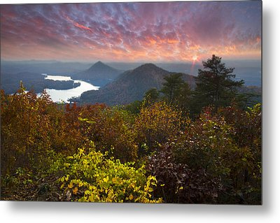 Autumn Evening Star Metal Print by Debra and Dave Vanderlaan
