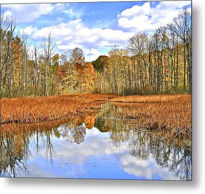 Autumn Fades Metal Print by Frozen in Time Fine Art Photography