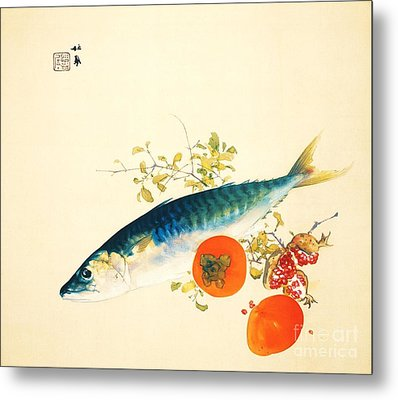 Autumn Fattens Fish And Ripens Fruit Metal Print by Pg Reproductions