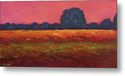 Autumn Field Dusk Metal Print