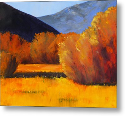 Autumn Field Metal Print by Nancy Merkle
