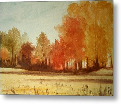 Autumn Fields New Jersey Metal Print