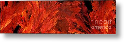 Autumn Fire Abstract Pano 2 Metal Print by Andee Design