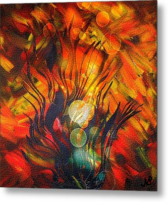 Autumn Fire By Nico Bielow Metal Print by Nico Bielow