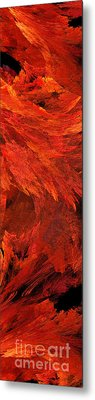 Autumn Fire Pano 2 Vertical Metal Print by Andee Design