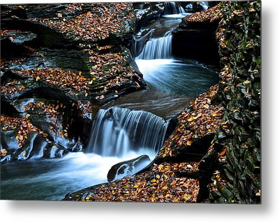 Autumn Flows Forth Metal Print by Frozen in Time Fine Art Photography