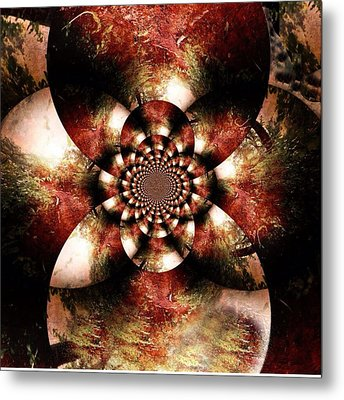 Autumn Fractal Abstract Metal Print by Maggie Vlazny